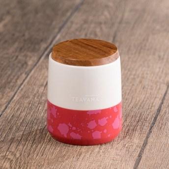 8oz Two-Tone Dark Pink & White Mug