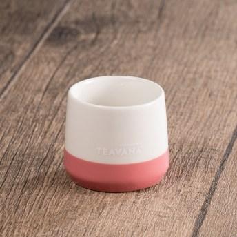 Teavana Two-Tone Pink & White Tasting Cup