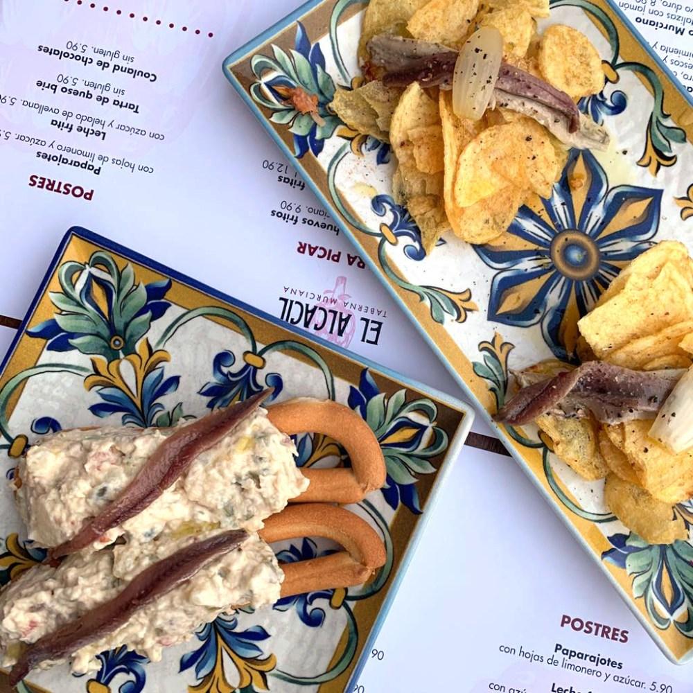 Ensaladica y anchoas El Alcacil