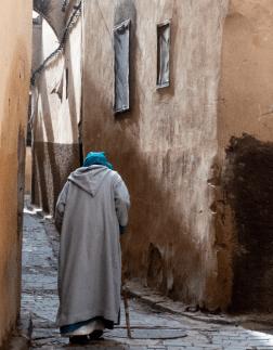 Detalle de una callejuela de Fez