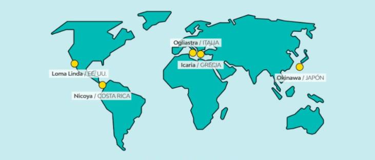 Las 5 zonas azules del planeta