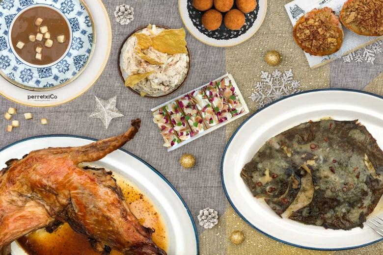 Cena a domicilio para Navidad perretxiCo