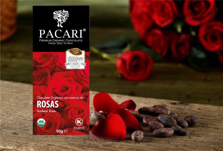 Chocolate con esencia de rosas