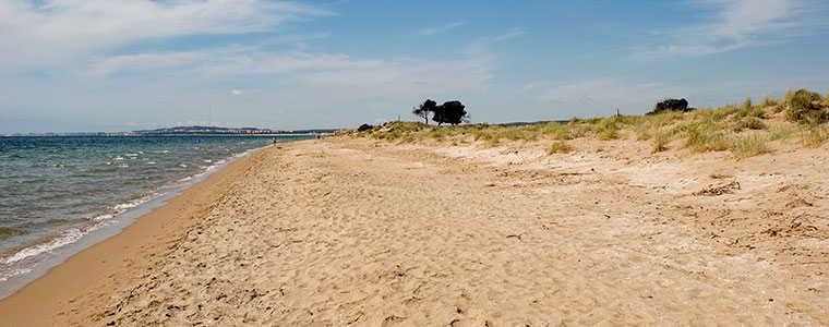 mejores playas santa pola: playa el pinet