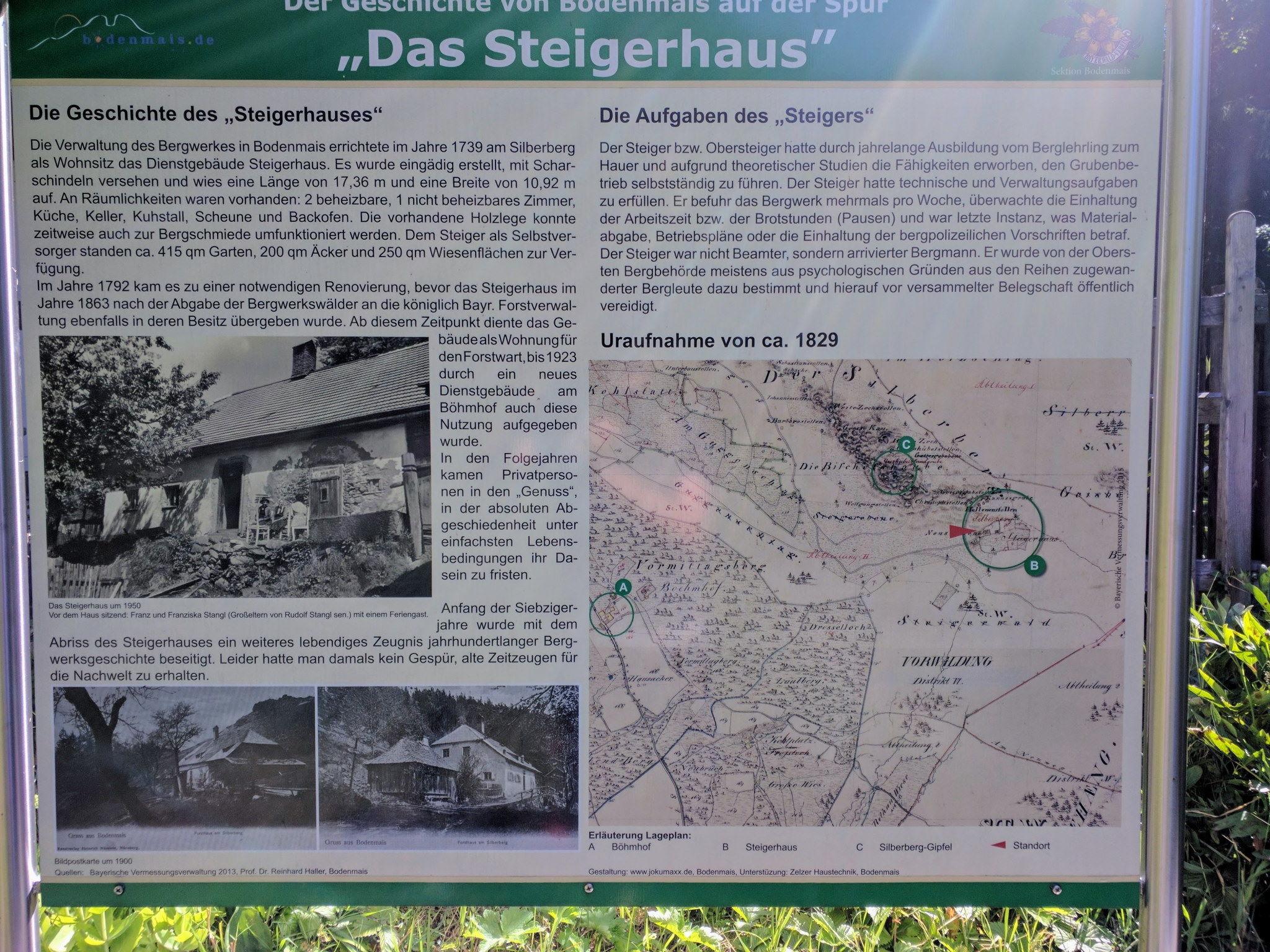 Tafel Steigerhaus