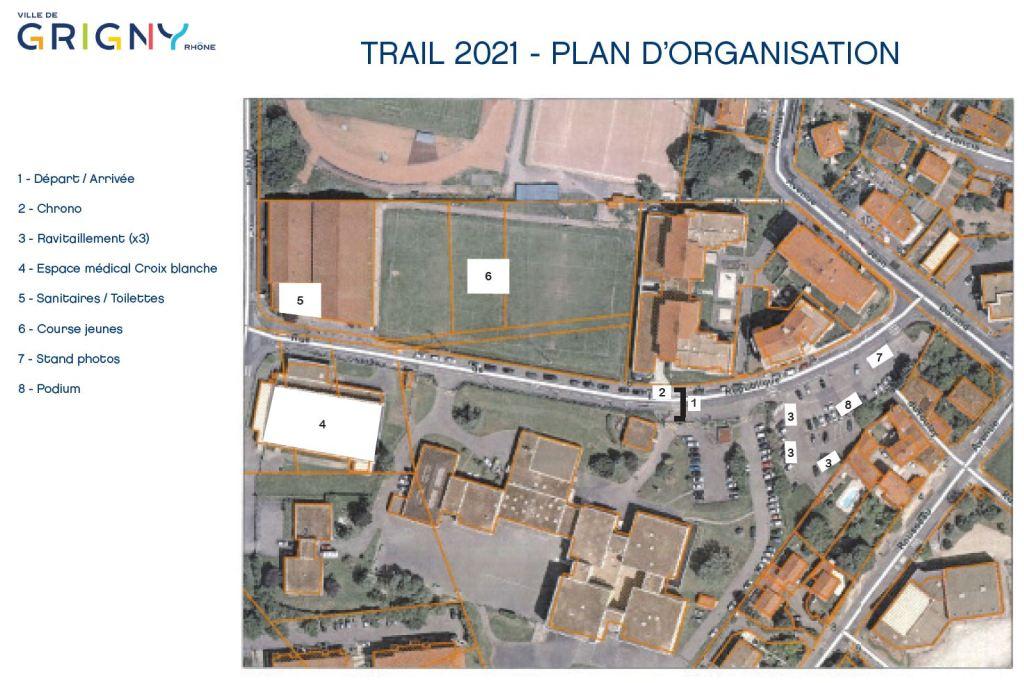 Plan d'organisation du trail 2021