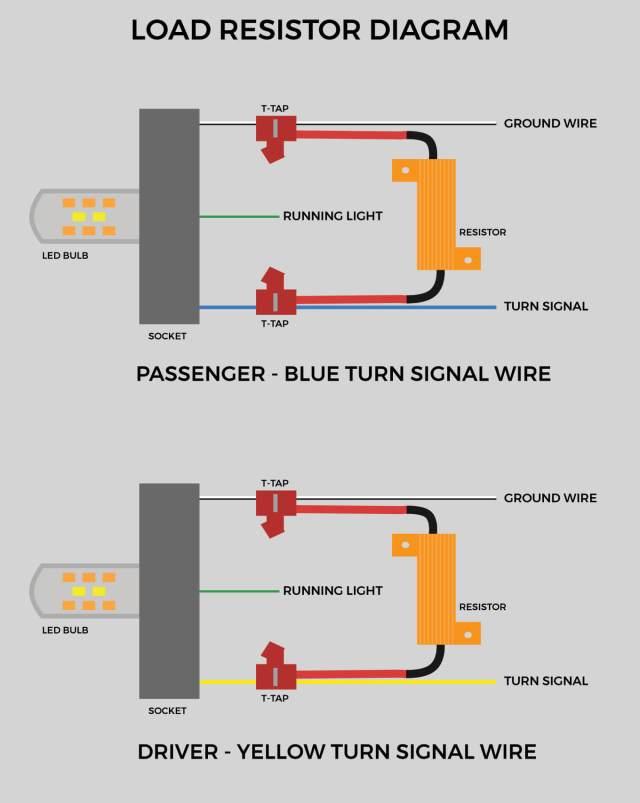 Led Turn Signal Resistor Wiring Diagram Hobbiesxstyle