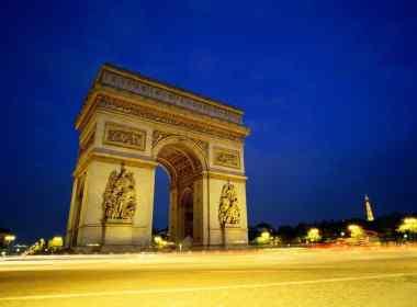 Arc de triomphe, départ du marathon de Paris