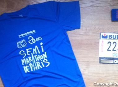 T-shirt Semi-Marathon de Paris 2012