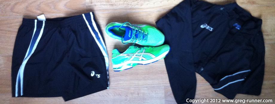 Equipement Asics pour le Marathon de Paris 2012