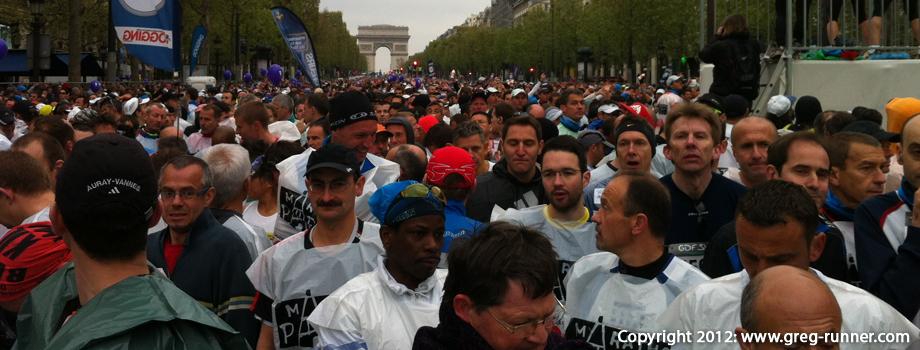Marathon de Paris 2012: départ