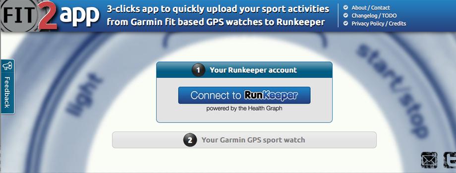 Fit 2 App: Garmin sur Runkeeper