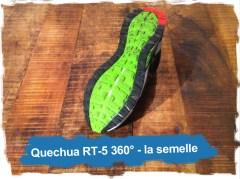 Quechua RT-5 360°: la semelle
