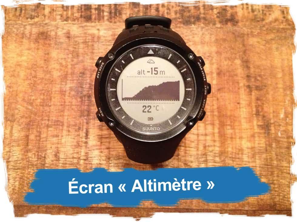 "Ecran ""Altimètre"""