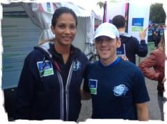 Christine Arron et Greg-Runner