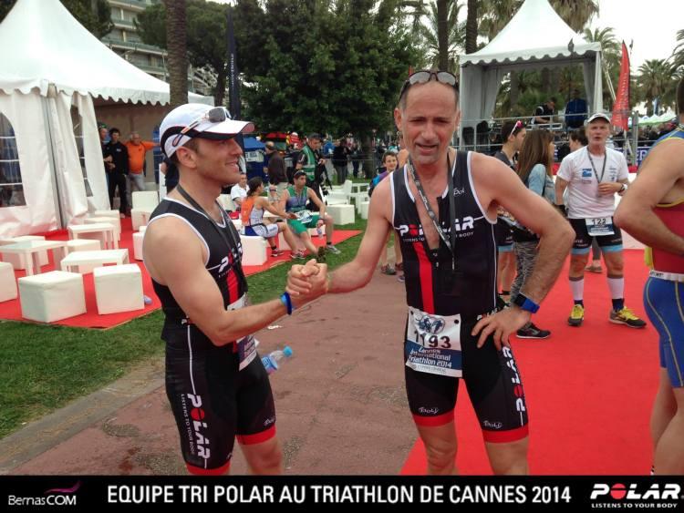 Triathlon de Cannes: arrivée