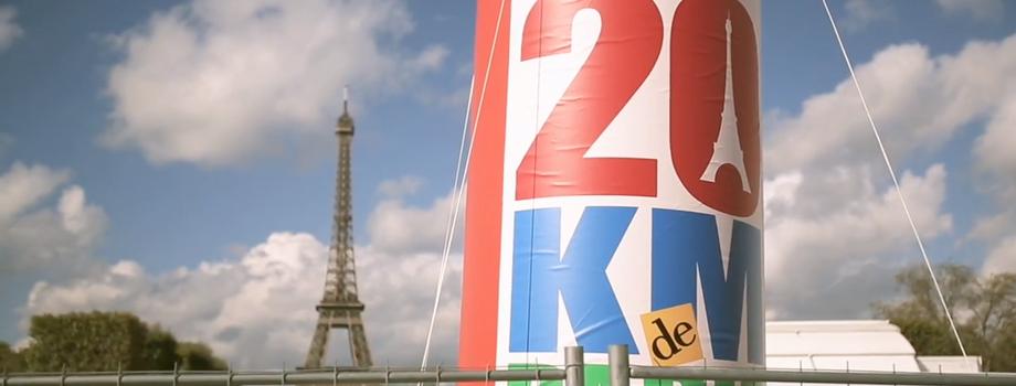20km de Paris: la vidéo Tomtom
