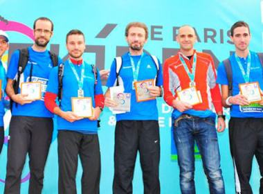 Ekiden de Paris : podium