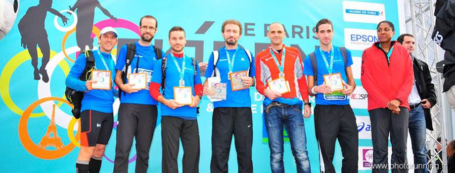 Ekiden de Paris : podium