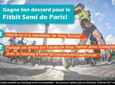 Concours: gagne ton Dossard pour le fitbit Semi de Paris 2017