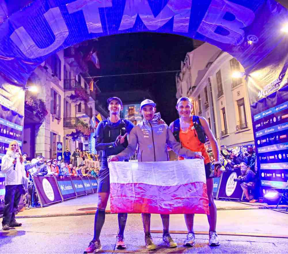 UTMB - TDS: podium avec Bowman, Swierc et Mityaev