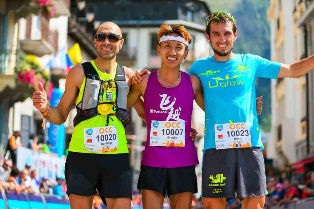 utmb - occ: podium avec Jia, Mezquita et Vermeulen