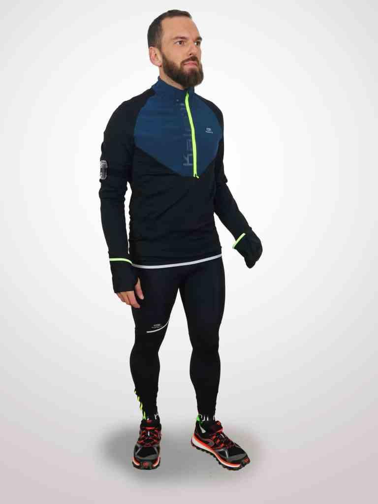 Tenue pour courir quand-il fait froid: Decathlon Kiprun Warm