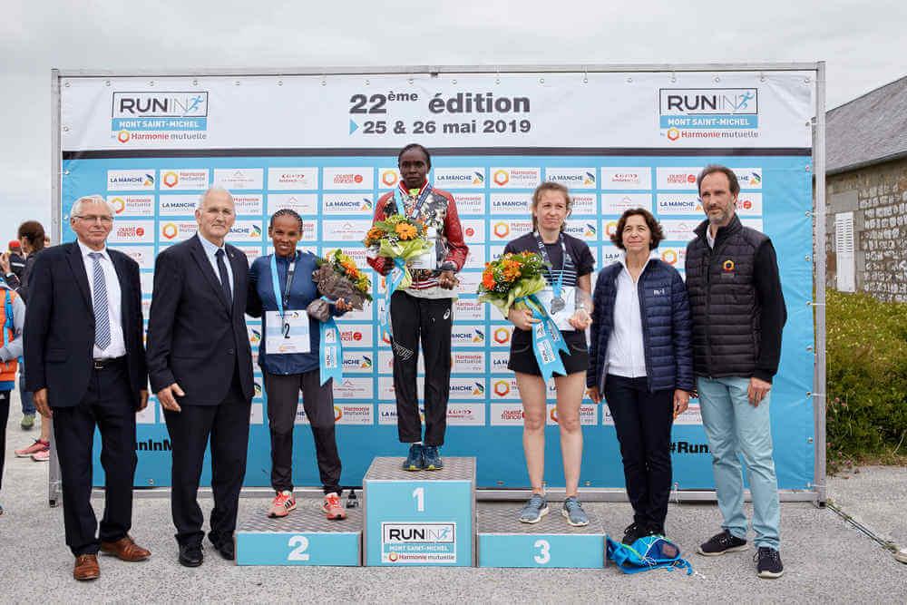 Podium femmes du Marathon du Mont Saint-Michel 2019