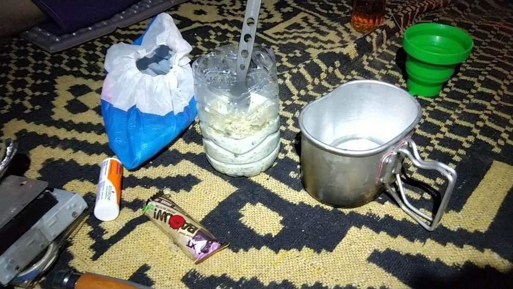 MDS: Le repas sur le bivouac
