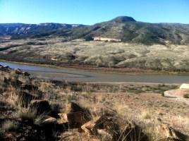 View of River from Desert RATS 25 Mile Race