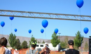 Blue Balloons In Honor of Thayne Hansen