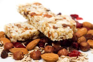 Granola bar on white background picture