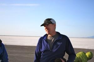 Scott Brockmeier after finishing the Salt Flats 100
