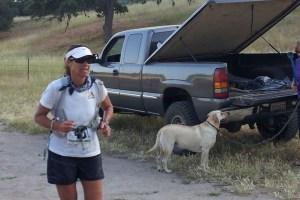 Pic of Carilyn Johnson Running Born to Run Ultra Marathon