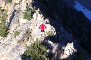 picture of craig lloyd during a ridge line traverse during wasatch training