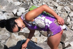 picture of andrea martinez's injury during a wasatch 100 training run