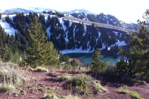 picture of desolation lake along the wasatch 100 course in May 2012