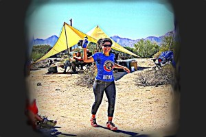 picture of vanessa rodriguez finishing an ultramarathon