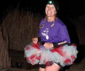picture of lynette mcdougal while running 45 hours