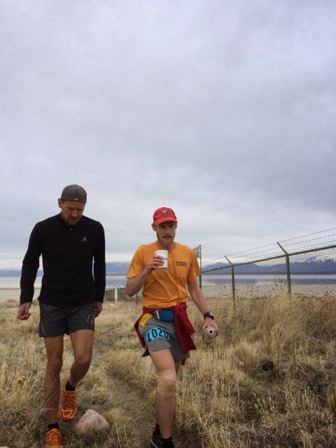 Kendall Wimmer and ginger ale, mile 45