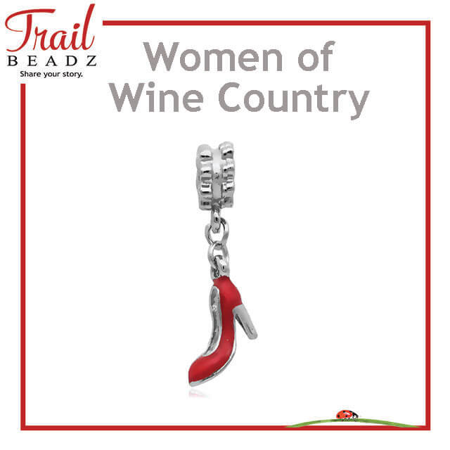 Women of Wine Country Charity Red Pump Shoe Charm