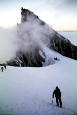 Climbing Toward Mt Baker Summit