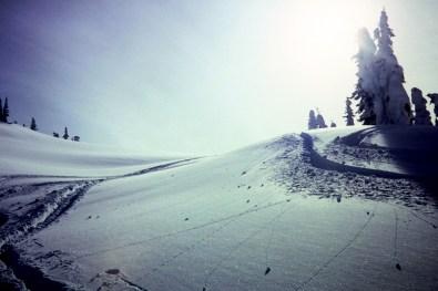 Skiing Near Discovery Cabin