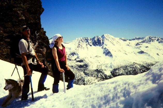Bob and Laura At Jim Hill Mtn Summit Notch