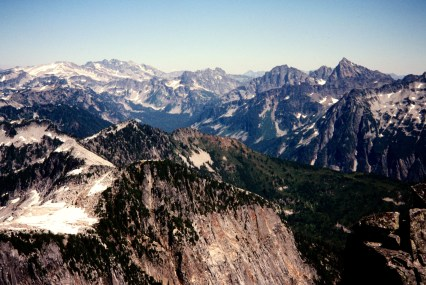 Mt Daniel and Summit Chief Mountain From Big Snow Mountain