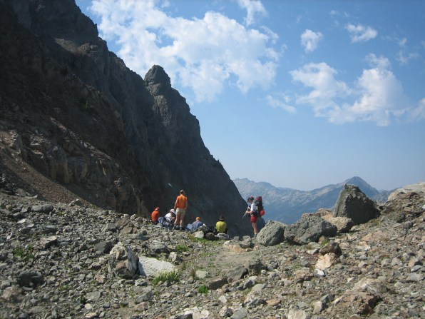 Group At Gunsight Pass
