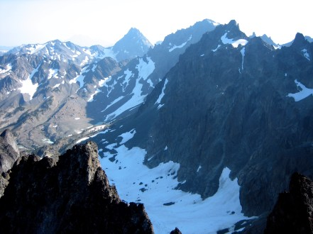 Mt Mystery and Mt Deception From Mt Clark