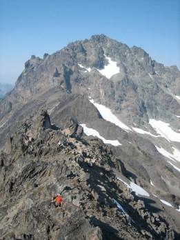 Scrambling Down Royal Peak