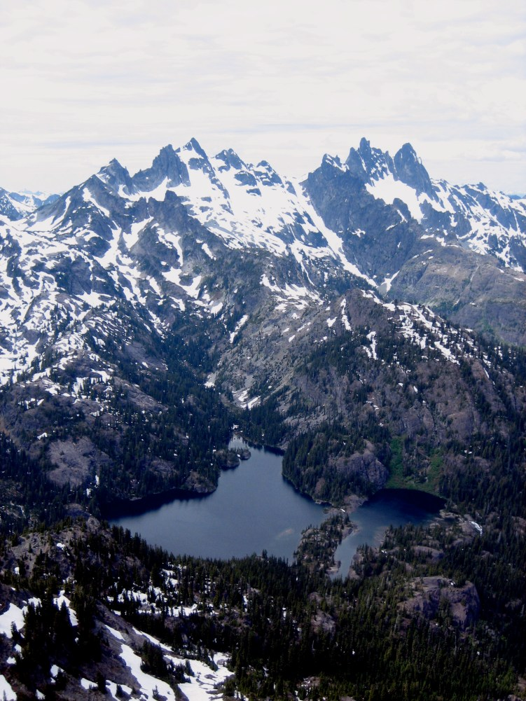 Lemah Mountain, Chimney Rock, and Spectacle Lake