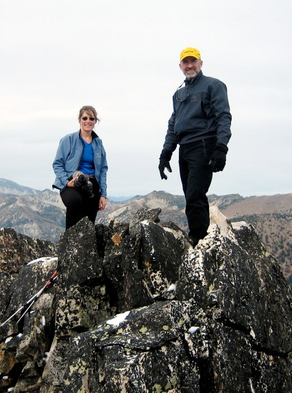 Eileen and Jim On Old Maid Mountain Summit